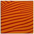rug #531869 | square orange animal rug