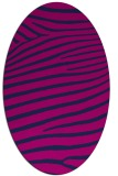 rug #532005 | oval pink animal rug