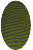 rug #532037   oval green animal rug