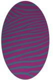 rug #532041 | oval pink animal rug