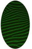 rug #532045   oval green animal rug