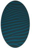 rug #532057 | oval blue animal rug