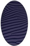 rug #532061   oval blue-violet animal rug