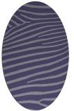 rug #532065 | oval blue-violet stripes rug