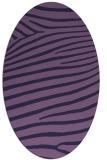 rug #532073 | oval purple animal rug
