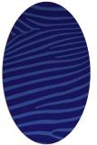 rug #532081 | oval blue-violet animal rug
