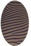 rug #532085   oval blue-violet stripes rug