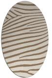 rug #532129   oval beige animal rug