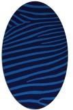 rug #532145 | oval blue animal rug