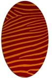 rug #532165 | oval red-orange animal rug
