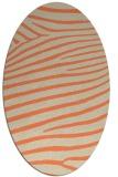 rug #532173 | oval beige animal rug