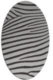 rug #532177 | oval red-orange stripes rug