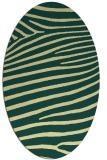 rug #532181 | oval yellow animal rug