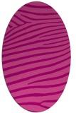 rug #532185   oval pink stripes rug