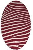 rug #532190   oval stripes rug