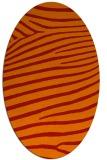 rug #532221 | oval red stripes rug