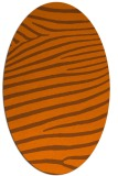 rug #532235 | oval stripes rug