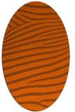 rug #532241 | oval red-orange stripes rug