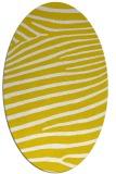 rug #532253 | oval white stripes rug