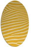rug #532265 | oval yellow animal rug