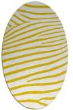 rug #532277 | oval white stripes rug