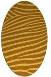 rug #532281 | oval yellow animal rug