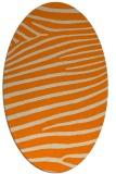 rug #532293 | oval orange rug