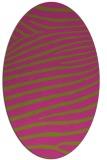 rug #532305 | oval pink animal rug