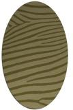 rug #532309 | oval light-green animal rug