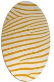 rug #532313 | oval light-orange animal rug