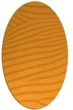 rug #532321 | oval light-orange stripes rug
