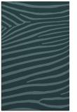 rug #532401    blue-green animal rug