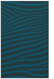 rug #532405    blue-green animal rug