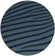 rug #532713 | round blue-green animal rug