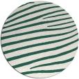 rug #532813 | round blue-green rug