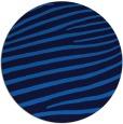 rug #532849 | round blue animal rug