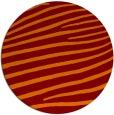 rug #532869 | round orange animal rug