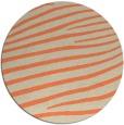 rug #532877 | round orange stripes rug