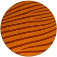 rug #532937 | round red-orange stripes rug