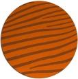 rug #532945   round red-orange stripes rug