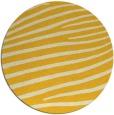 rug #532969 | round yellow stripes rug