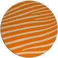rug #532997 | round orange animal rug