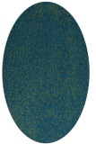 rug #535557 | oval green animal rug