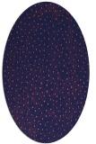 rug #535589 | oval blue-violet animal rug