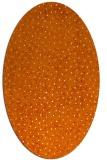 rug #535689 | oval orange animal rug
