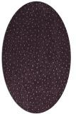 rug #535733 | oval purple rug