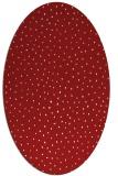rug #535745   oval red animal rug