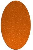 rug #535757 | oval red-orange animal rug