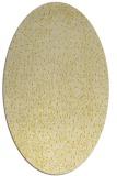 rug #535785 | oval yellow animal rug