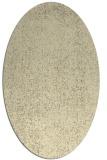 rug #535789   oval yellow animal rug